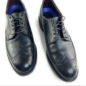 Allen & Edmond Black Derby Dress Shoes in Black